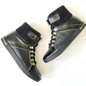 Michael Kors high top sneakers black & gold